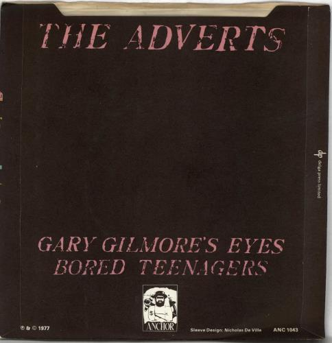 "The Adverts Gary Gilmore's Eyes - Solid + Sleeve/Pink 7"" vinyl single (7 inch record) UK AVR07GA659541"