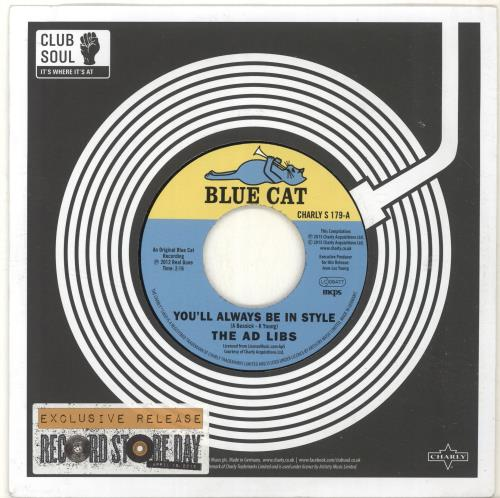 """The Ad Libs You'll Always Be In Style - RSD15 7"""" vinyl single (7 inch record) UK A-L07YO695831"""