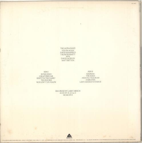 The Alpha Band The Alpha Band vinyl LP album (LP record) US TJQLPTH679945