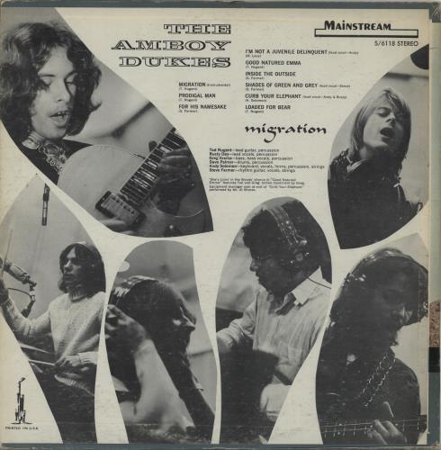 The Amboy Dukes Us Migration Us Vinyl Lp Album Lp
