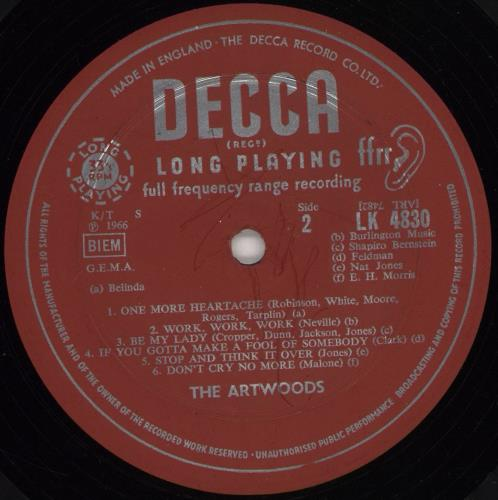 The Artwoods Art Gallery - 1st vinyl LP album (LP record) UK ATWLPAR744444