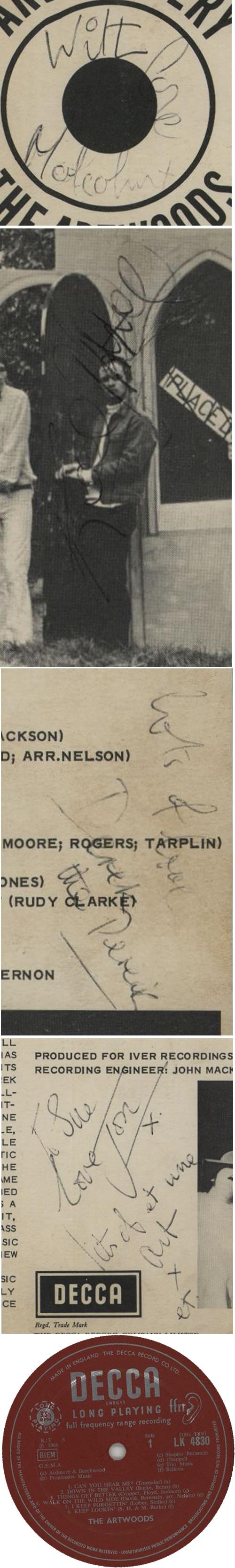 The Artwoods Art Gallery - Fully Autographed vinyl LP album (LP record) UK ATWLPAR632487
