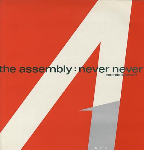 "The Assembly Never Never (Extended Version) 12"" vinyl single (12 inch record / Maxi-single) UK ASM12NE07663"