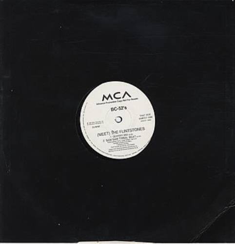 "The B-52's (Meet) The Flintstones 12"" vinyl single (12 inch record / Maxi-single) UK B5212ME30656"