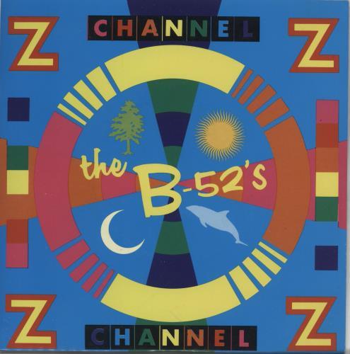 "The B-52's Channel Z 7"" vinyl single (7 inch record) UK B5207CH765432"
