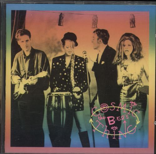 The B-52's Cosmic Thing - Promo Stickered CD album (CDLP) German B52CDCO749128