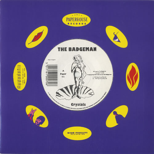 "The Badgeman Crystals 7"" vinyl single (7 inch record) UK S7M07CR526413"