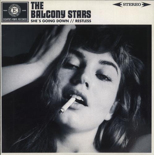 "The Balcony Stars She's Going Down + Insert 7"" vinyl single (7 inch record) UK ZL707SH716943"