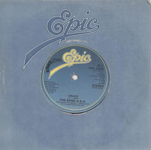 """The Band A.K.A. Grace 7"""" vinyl single (7 inch record) UK WX607GR733068"""