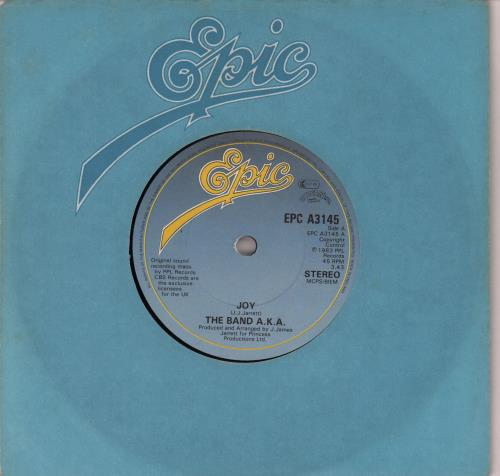 """The Band A.K.A. Joy - Solid 7"""" vinyl single (7 inch record) UK WX607JO647703"""