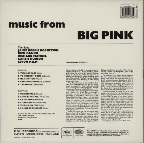 The Band Music From Big Pink - 180gm vinyl LP album (LP record) UK T-BLPMU764610