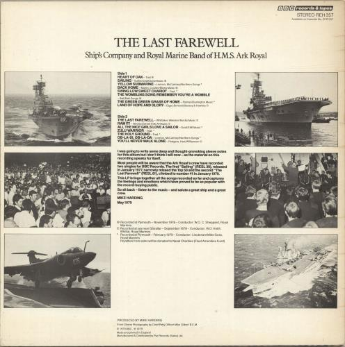 The Band Of H.M. Royal Marines The Last Farewell vinyl LP album (LP record) UK UI3LPTH693832