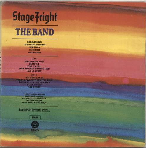 The Band Stage Fright vinyl LP album (LP record) UK T-BLPST698736