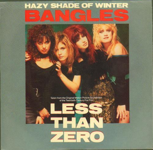 """The Bangles Hazy Shade Of Winter 7"""" vinyl single (7 inch record) US BGL07HA676524"""