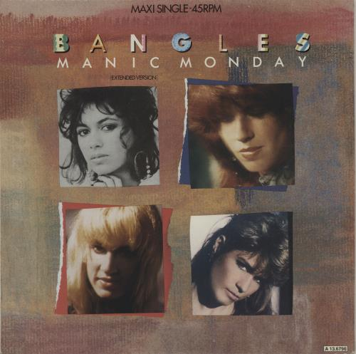 "The Bangles Manic Monday 12"" vinyl single (12 inch record / Maxi-single) Dutch BGL12MA676130"