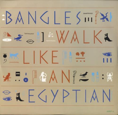"The Bangles Walk Like An Egyptian 12"" vinyl single (12 inch record / Maxi-single) UK BGL12WA14216"