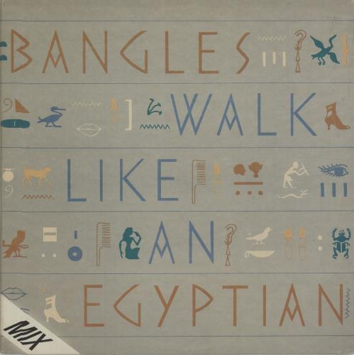 "The Bangles Walk Like An Egyptian 12"" vinyl single (12 inch record / Maxi-single) Brazilian BGL12WA676102"
