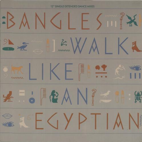"The Bangles Walk Like An Egyptian 12"" vinyl single (12 inch record / Maxi-single) Canadian BGL12WA676421"