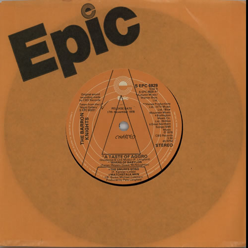 """The Barron Knights A Taste Of Aggro 7"""" vinyl single (7 inch record) UK KN807AT638664"""