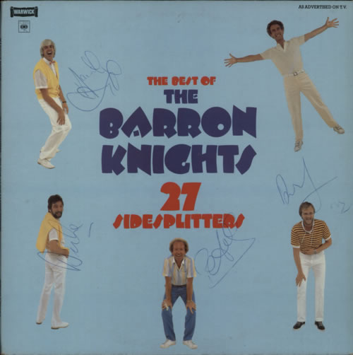 The Barron Knights Best Of The Barron Knights 27 Sidesplitters - Autographed 2-LP vinyl record set (Double Album) UK KN82LBE613337