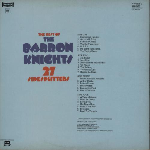 The Barron Knights Best Of The Barron Knights 27 Sidesplitters 2-LP vinyl record set (Double Album) UK KN82LBE751643