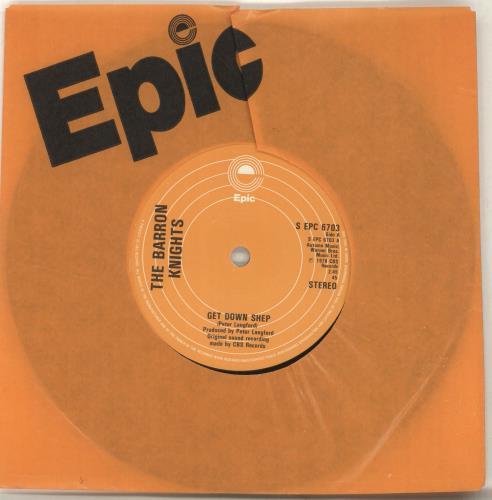 "The Barron Knights Get Down Shep 7"" vinyl single (7 inch record) UK KN807GE570713"