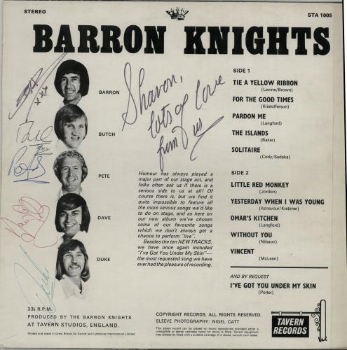 The Barron Knights Odds On Favourites - Fully Autographed vinyl LP album (LP record) UK KN8LPOD616907