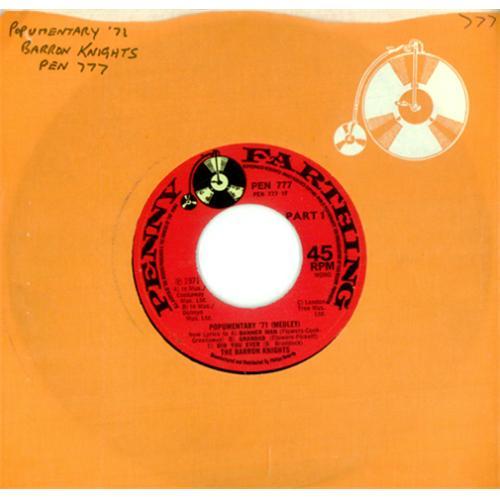 "The Barron Knights Popumentary '71 (Medley) 7"" vinyl single (7 inch record) UK KN807PO420347"