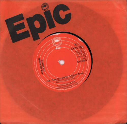 """The Barron Knights The Topical Song [Logical Song] 7"""" vinyl single (7 inch record) UK KN807TH666648"""