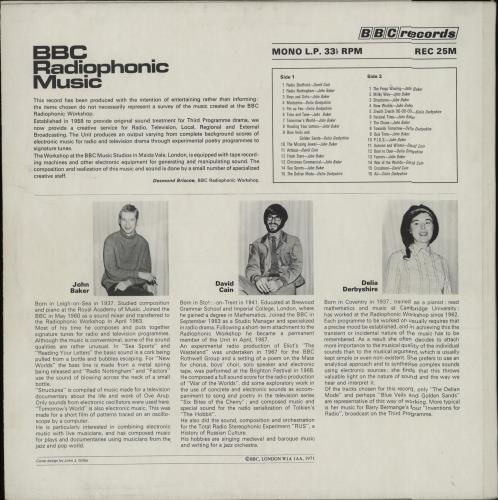 The BBC Radiophonic Workshop BBC Radiophonic Music vinyl LP album (LP record) UK RW0LPBB660461