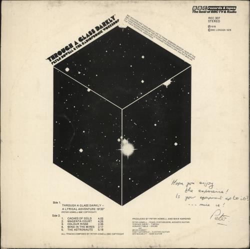 The BBC Radiophonic Workshop Through A Glass Darkly - Autographed vinyl LP album (LP record) UK RW0LPTH729275