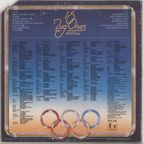 The Beach Boys 15 Big Ones vinyl LP album (LP record) US BBOLPBI362504