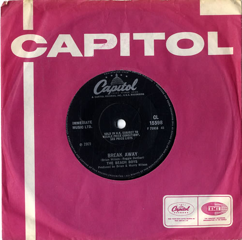 "The Beach Boys Break Away - Solid 7"" vinyl single (7 inch record) UK BBO07BR386070"