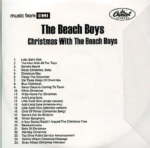 the beach boys christmas with the beach boys cd r acetate uk bbocrch308954 - Beach Boys Christmas Song
