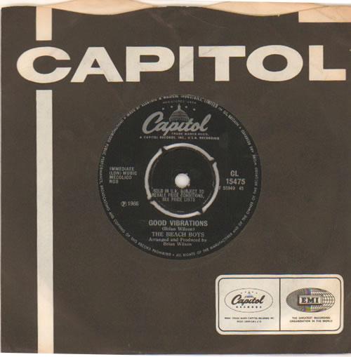 "The Beach Boys Good Vibrations - 4 Prong 7"" vinyl single (7 inch record) UK BBO07GO317369"