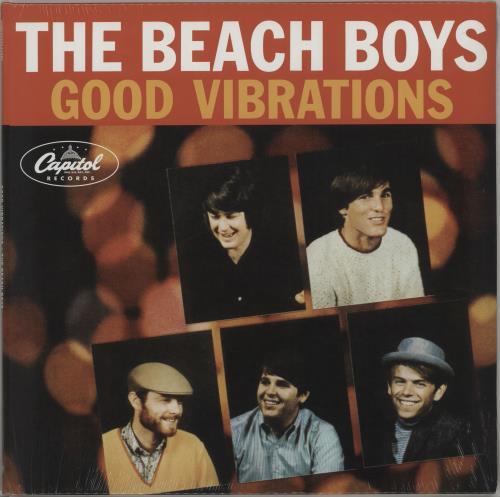 "The Beach Boys Good Vibrations - Orange - Sealed 12"" vinyl single (12 inch record / Maxi-single) UK BBO12GO661368"