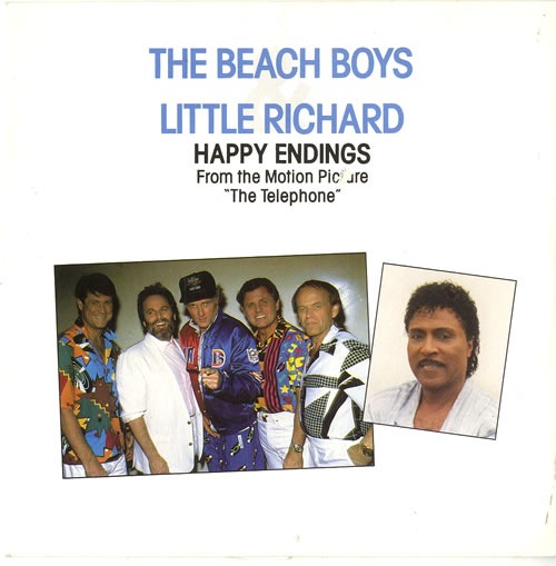 "The Beach Boys Happy Endings W/little Richard 7"" vinyl single (7 inch record) UK BBO07HA56887"