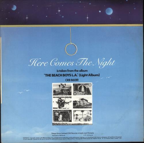 "The Beach Boys Here Comes The Night 12"" vinyl single (12 inch record / Maxi-single) UK BBO12HE119802"