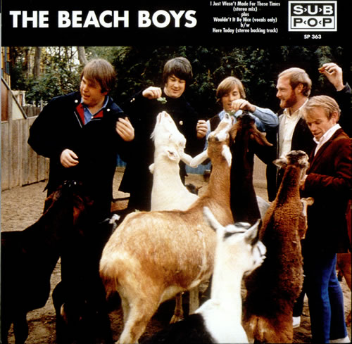 """The Beach Boys I Just Wasn't Made For These Times 7"""" vinyl single (7 inch record) US BBO07IJ80703"""