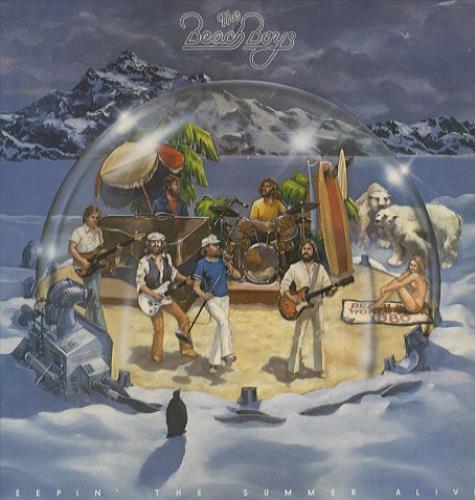 The Beach Boys Keepin' The Summer Alive - Gold Promo Stamp + Insert vinyl LP album (LP record) UK BBOLPKE443617