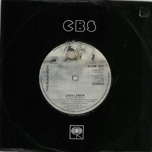 "The Beach Boys Lady Lynda 7"" vinyl single (7 inch record) UK BBO07LA562789"