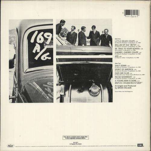 The Beach Boys Little Deuce Coupe vinyl LP album (LP record) US BBOLPLI725421