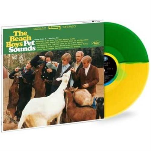 The Beach Boys Pet Sounds - 180gm Green & Yellow Split Coloured Vinyl vinyl LP album (LP record) UK BBOLPPE727921