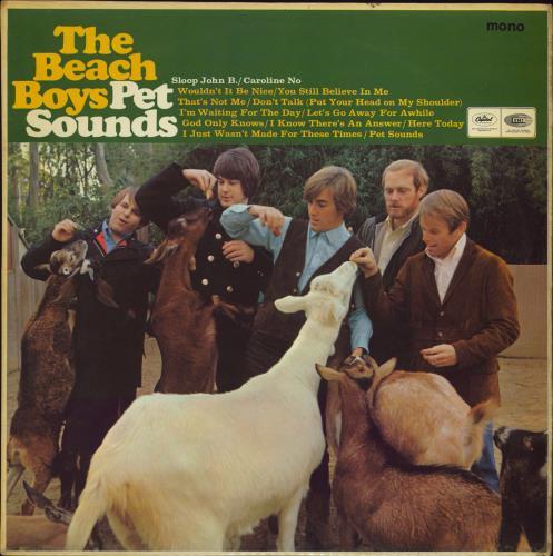 The Beach Boys Pet Sounds - 1st - VG+ vinyl LP album (LP record) UK BBOLPPE599148