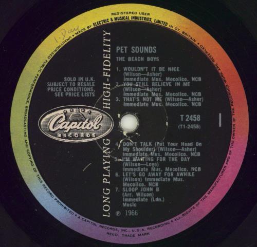 The Beach Boys Pet Sounds - 1st - VG vinyl LP album (LP record) UK BBOLPPE599148
