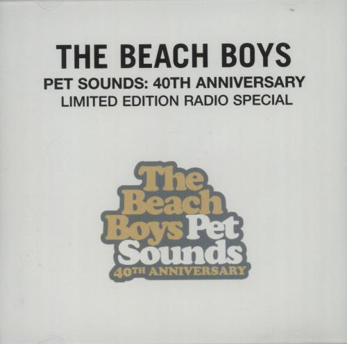 The Beach Boys Pet Sounds: 40th Anniversary Limited Edition Radio Special CD-R acetate US BBOCRPE664365