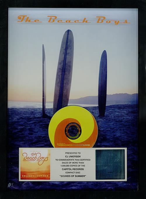 The Beach Boys Sounds Of Summer award disc US BBOAWSO503522