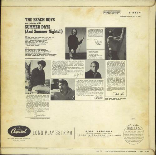 The Beach Boys Summer Days - 1st - VG vinyl LP album (LP record) UK BBOLPSU770035