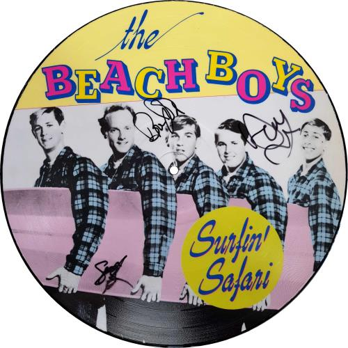 The Beach Boys Surfin' Safari / 25 Years Later - Autographed picture disc LP (vinyl picture disc album) Dutch BBOPDSU704379