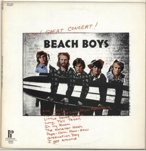 The Beach Boys Wow! Great Concert! vinyl LP album (LP record) US BBOLPWO703954
